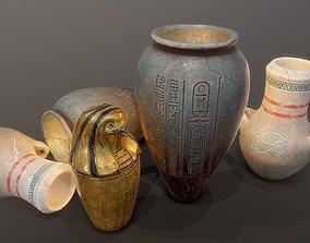3D model Egypt tomb jars PBR