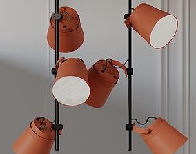 3D ZERO GINZA VERTICAL LED Aluminium Pendant Lamp