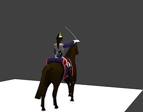 Cuirassier heavy cavalery napoleon 3D model