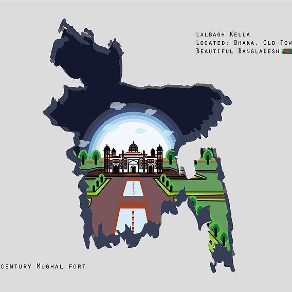 Lalbagh Kella (Fort) Beautiful Bangladesh