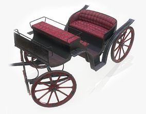 Old Carriage - GameReady 3D model