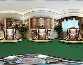Living Panorama European home entertainment room 3D model