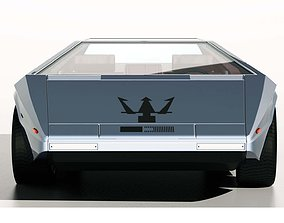 3D 1971 Maserati Boomerang Concept Car
