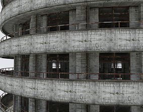 3D asset DAMAGED BUILDING WAR POST APOCALYPSE ABANDONED