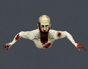 Dead Man X 3D asset animated