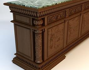 Antique Marble Top Bar 3D