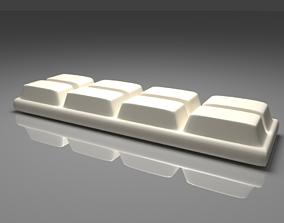 3D model White Chocolate Bar 2