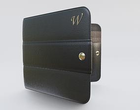 nylon 3D model Bicolor Billfold Wallet