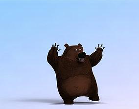 Stylized Cartoon Bear 3D
