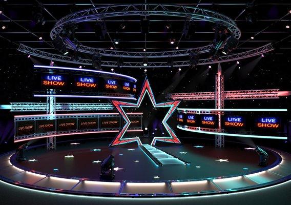 Virtual TV Studio Entertainment Set 4