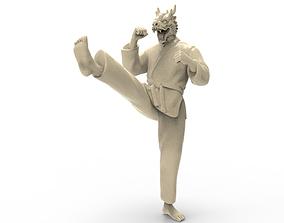 3D printable model Dragon Front kick