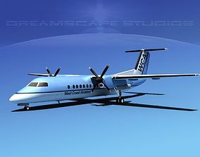 DeHavilland DHC-8-Q300 West Coast 3D