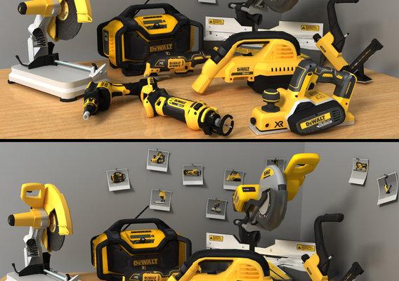 Dewalt 9 tools Render