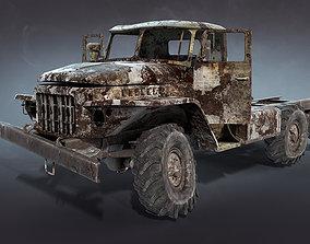 Ural-375 Burnt 3D model