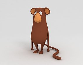 3D Monkey Cartoon Character character