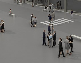 3D PEOPLE CROWDS- OFFICE BUILDING - VR / AR ready 2