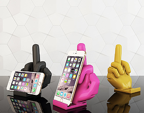 Phone stand middle finger 3D printable model