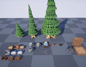 Stylized Survival Asset Pack 3D model