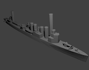 3D print model British Town Class Destroyer