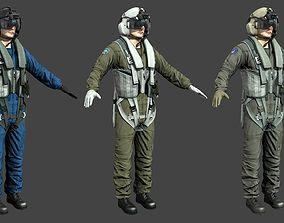 3D asset Chinse Russian US pilots