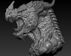 3D printable model of Dragon head