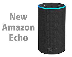New Amazon Echo 2018 Charcoal Fabric 3D model
