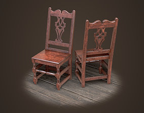 Old medieval chair 3D model