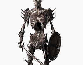 3D asset Undead Warrior