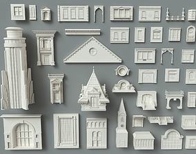 3D model Building Facade Collection-1 - 41