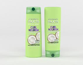 3D Garnier Hair Care Fructis Curl Nourish Shampoo