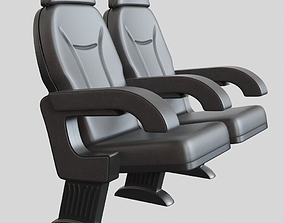 Cinema Chair Black 3D model