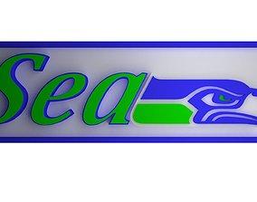 Seahawks logo banner 3D