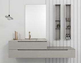 Bathroom furniture set Gold 2 3D