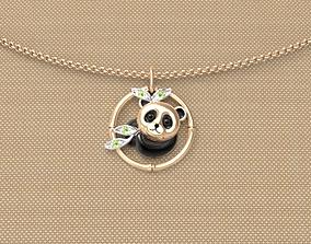 3D printable model Baby panda pendant