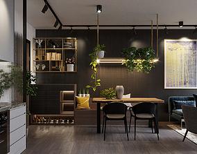 Industrial Style Apartment Full Design 3D model