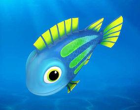 Cartoon Fish09 Rigged Animated 3D model
