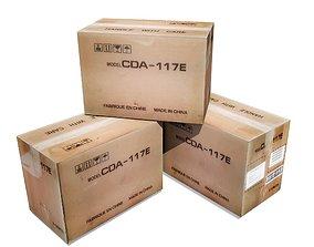 3D model low-poly economy Cardboard Box