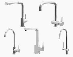 3D Fixtures - Kitchen Bathroom Faucet Pack D