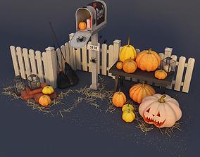 various 3D model Decorative group Halloween