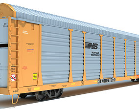 3D model Auto Carrier Rail Car