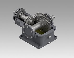 3D model Gearbox single conical