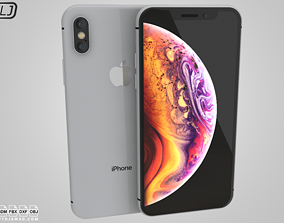 3D model Apple Iphone XS Silver - White