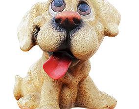 Decorative figurine of a dog piggy bank 3D