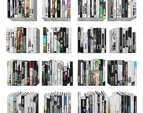 3D asset Books 150 pieces 4-8-1