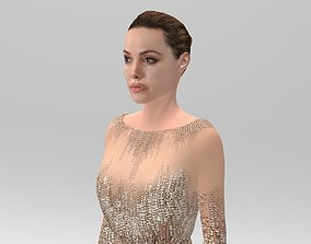 Angelina Jolie full figurine textured 3D print model