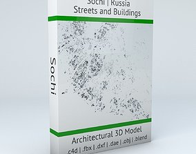 3D model Sochi Streets and Buildings