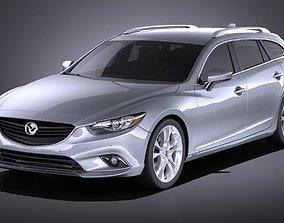 3D Mazda 6 wagon 2015 VRAY