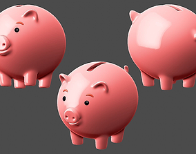 3D model Piggy bank money box