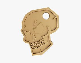 Skull keychain 3D printable model