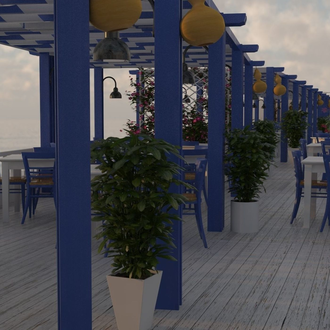 Aegean Taverna design and visualization project